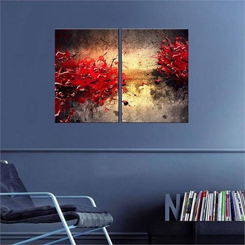Canvastablom İ503 Kırmızı Boyalar Parçalı Tablo