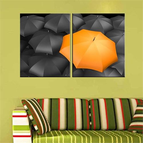 Canvastablom İ557 Şemsiyeler Parçalı Kanvas Tablo