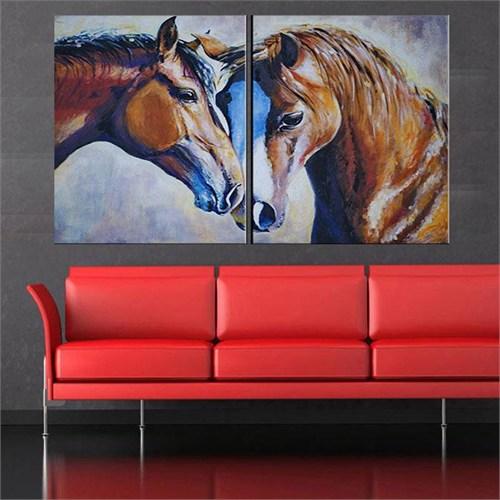 Canvastablom İ640 Horses Parçalı Kanvas Tablo