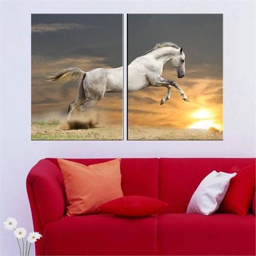 Canvastablom İ181 Beyaz At Parçalı Tablo