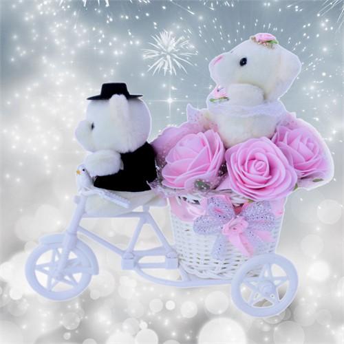 Mutluluklar Hediyesi Sevimli Peluşların Aşk Bisikleti