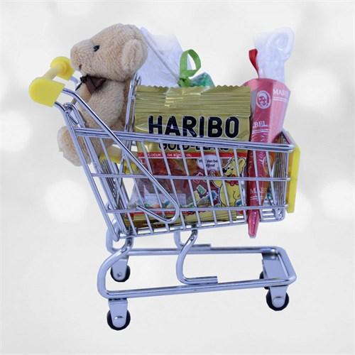 Doğum Günü Hediyesi Minik Peluş Tatlı Alışveriş Arabası