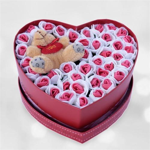 Sevgiliye Romantik Hediye Kalp Kutu Sihirli Bahçe