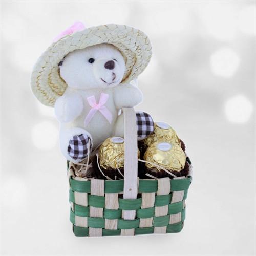 Doğum Günü Hediyesi Ayıcığın Piknik Sepeti