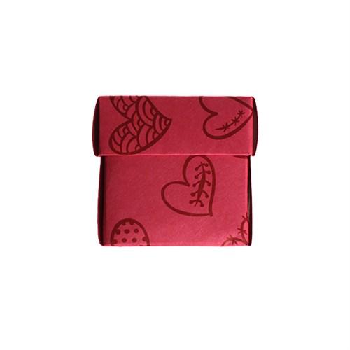 Kullanatmarket Mini Kalpli Kırmızı Kutu 10 Adet