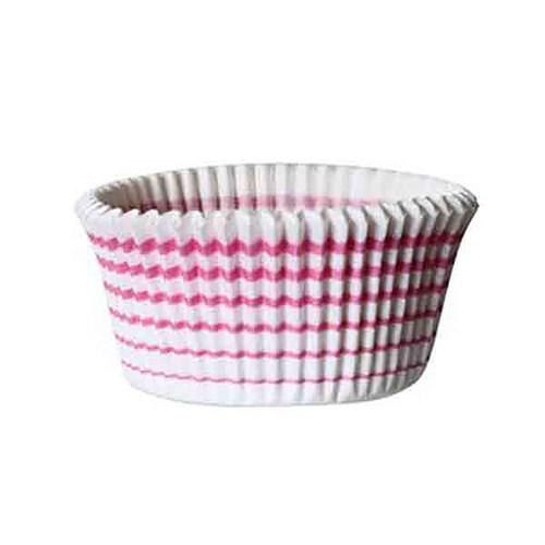 Kullanatmarket Pembe Çizgili Muffin Kağıdı 100 Adet
