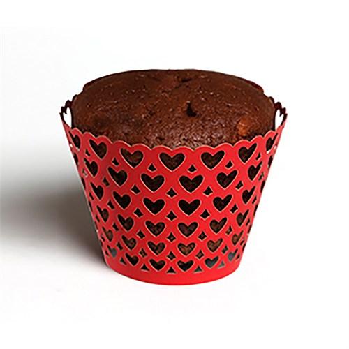 KullanAtMarket Minik Kalpler Kek Tacı 12 Adet