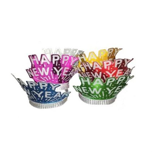 KullanAtMarket Happy Birthday Karton Taç 12 Adet