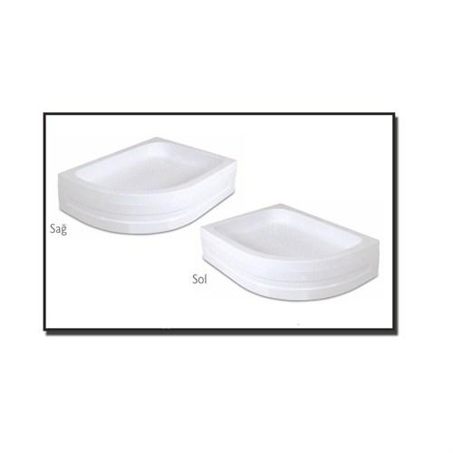 Duşaduş Akr030 Asimetrik Panelli Sağ Duş Teknesi 90 Cm X 120 Cm