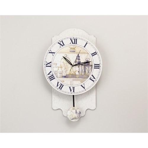 Madame Coco Dekoratif Sarkaçlı Duvar Saati 50 Cm