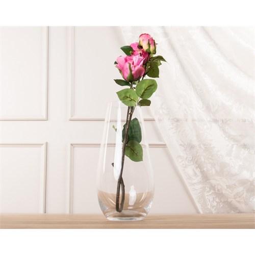 Madame Coco Dekoratif Yapay Çiçek Pembe Gül