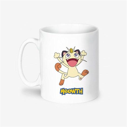 Kişiye Özel Pokemon Meowth Tasarımlı Kupa Bardak