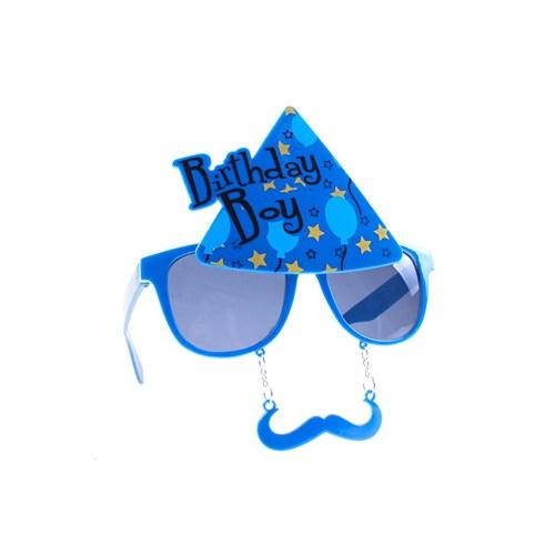 KullanAtMarket Birthday Boy Mavi Gözlük 1 Adet