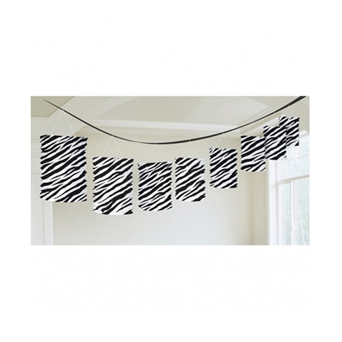 KullanAtMarket Siyah Zebra Partisi Sıralı Fener Süs 1 Adet