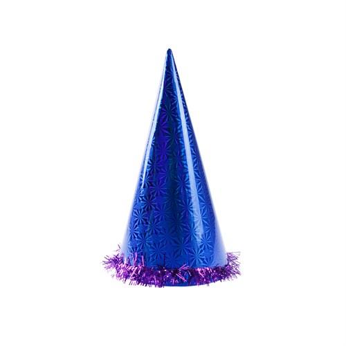 KullanAtMarket Mavi Holografik Büyük Yılbaşı Şapkası 1 Adet