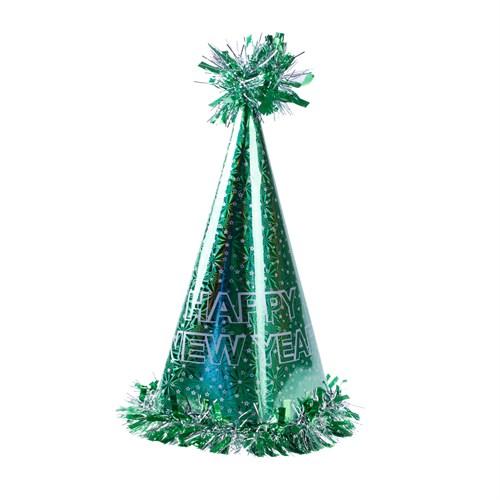 KullanAtMarket Happy New Year Yeşil Yılbaşı Şapkası 1 Adet