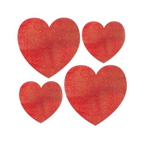 KullanAtMarket Kırmızı Mini Kalp Sticker 10 Adet