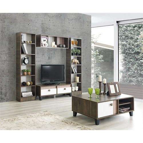 Home De Bella Glory Tv Ünitesi - Duvar Rafı - Kitaplık - Sehpa Seti