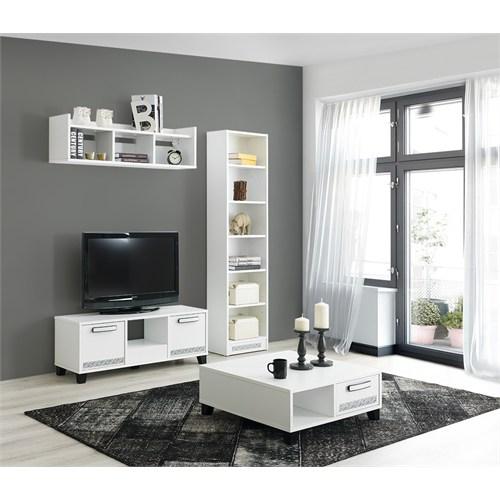 Home De Bella Brezza 1030 Tv Ünitesi - Kitaplık - Sehpa Seti