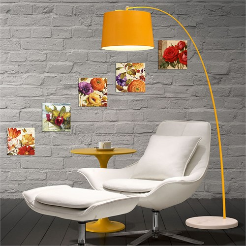 Dekorjinal 5 Parçalı Dekoratif Tablo Renkli Çiçekler -Utb092