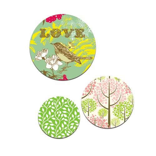 Dolce Home Love Yazısı Ve Kuş Wall Bubble Wb1y11913s3