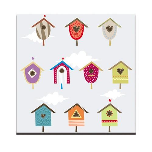 Dolce Home Dekoratif Tablo Kuş Yuvaları Dg1b1k20m13