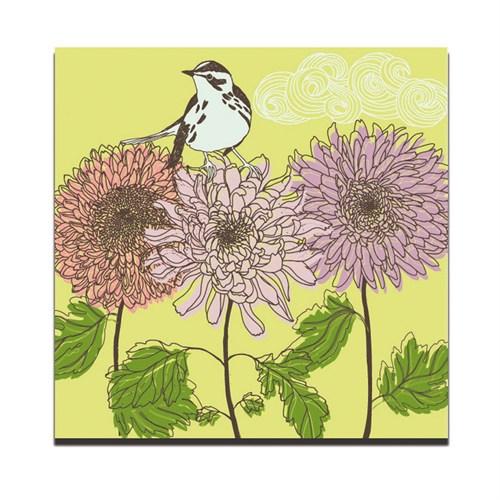 Dolce Home Dekoratif Tablo Siyah Beyaz Kuş Dg1b1k20m18