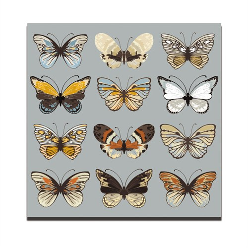 Dolce Home Kelebekler - 2 Dekoratif Tablo Dg1b1k20m33