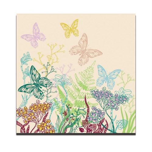 Dolce Home Renkli Kelebekler Dekoratif Tablo Dg1b1k20m26