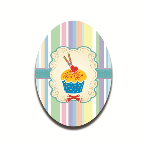 Dolce Home Kalp Desen Cupcake - 2 Dekoratif Tablo Ccake04