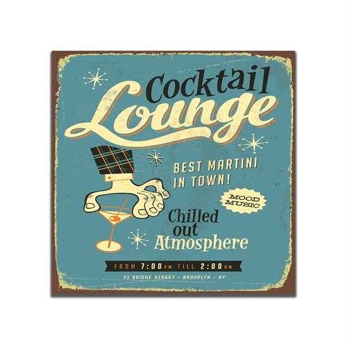 Dolce Home Cocktail Lounge Retro Tablo 39