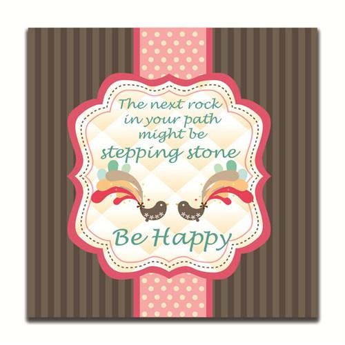 Dolce Home Be Happy Dekoratif Tablo K20m40
