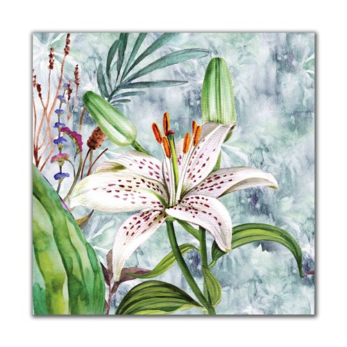 Dolce Home Beyaz Renkli Çiçek Dekoratif Tablo Adgt68