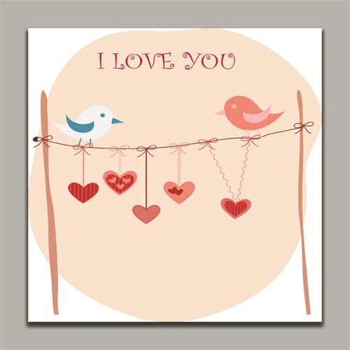 Dolce Home I Love You Dekoratif Tablo K20m80