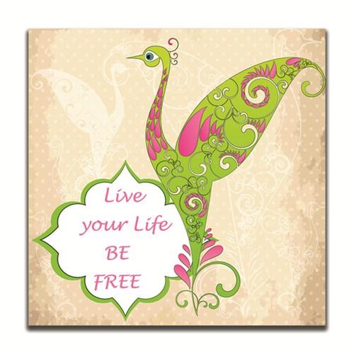 Dolce Home Live Your Life Be Free Dekoratif Tablo K20m55