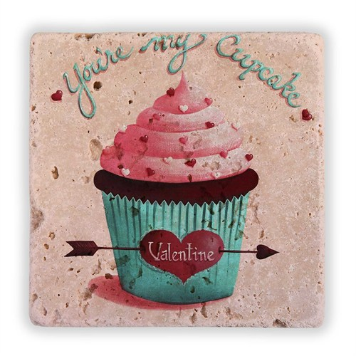 Oscar Stone Valentine Cupcakes Taş Tablo