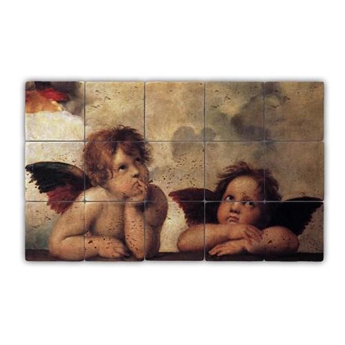 Oscar Stone Baskılı Taş Tablo Angels