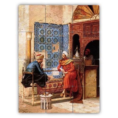 Oscar Stone Baskılı Taş Tablo - Osmanlıda Satranç