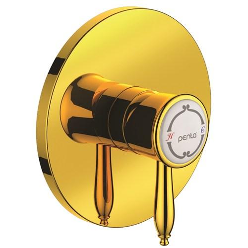 Penta 2409 Bosphorus Gold Ankastre Duş-Lavabo Bataryası