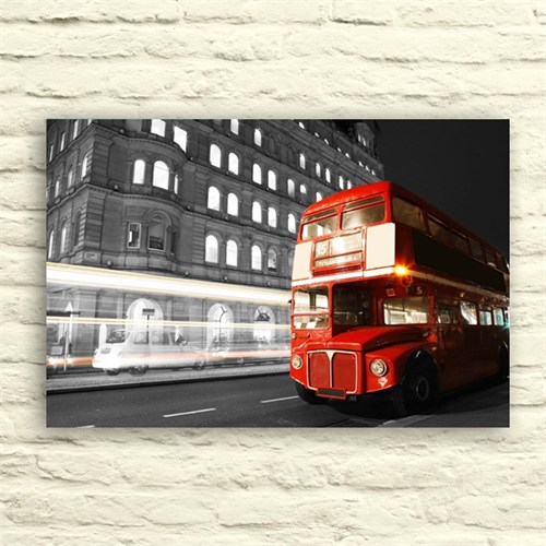 Fotocron Kırmızı Otobüs Tablo 24X34 Cm