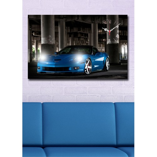Mavi Chevrolet Ledli Kanvas Saat