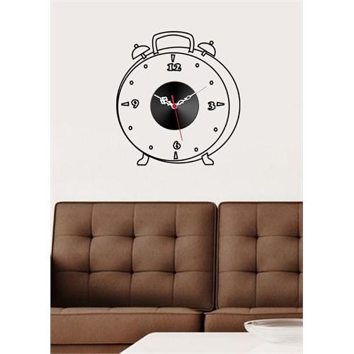 Çalar Saat Figürlü Sticker Saat