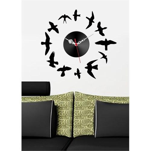Kuş Figürlü Sticker Saat