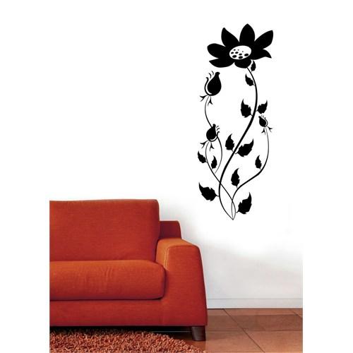 Uzun Saplı Çiçek Duvar Sticker