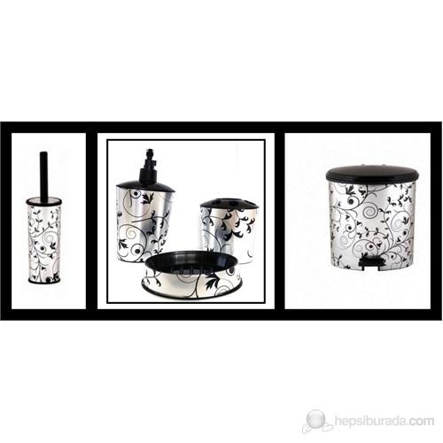 Çöp Kovası,Wc Fırçalık & 3'lü Banyo Setli Takım