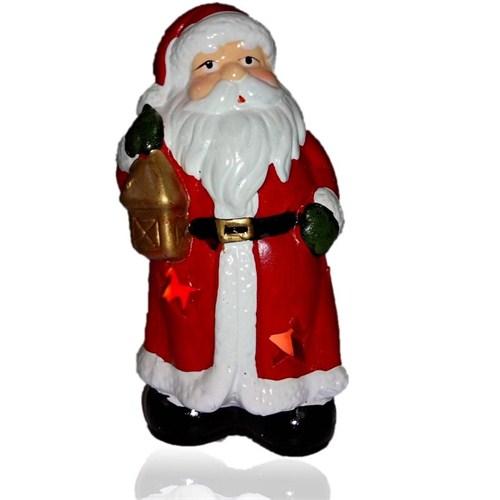 Yılbaşı Noel Baba Figürlü Dekoratif Mumluk