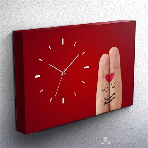 Loved Kanvas Tablo Saat 45X30cm