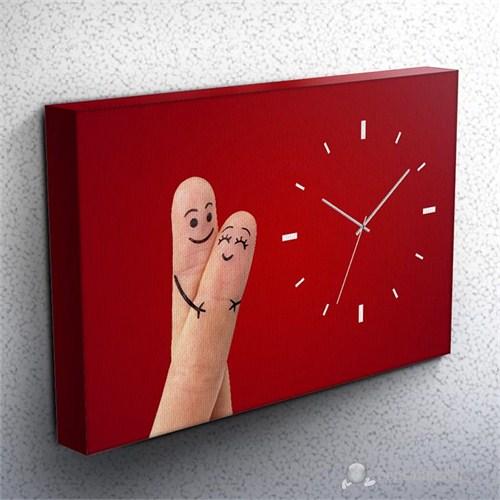 Loved Iı Kanvas Tablo Saat 45X30cm