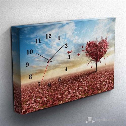 Sevgililer Günü Özel Canvas Tablo Saat Iı 45X30cm