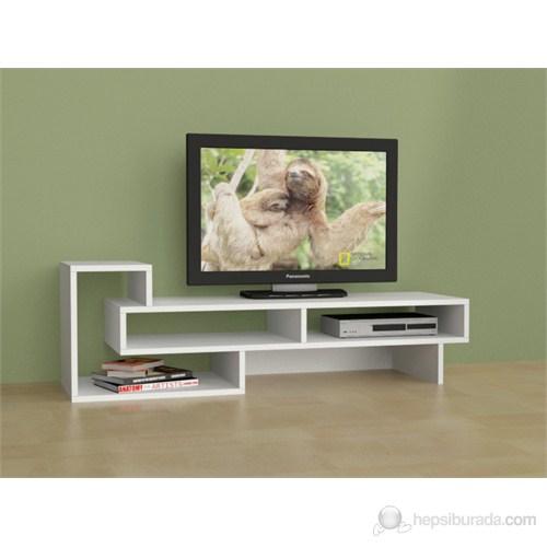 Decortie Tetra Tv Sehpası ( Beyaz )